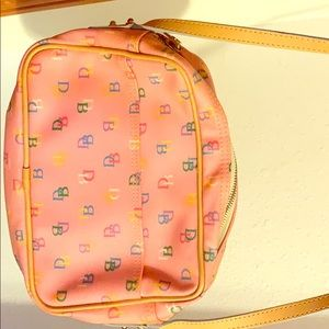 Authentic Dooney and Bourke pink signature purse